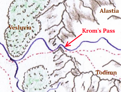 Krom's Pass - A centre point for Vesluvia, Alastia and Todimn
